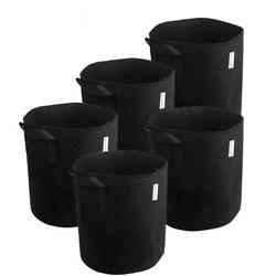 MELONFARM 5-Pack 3 Gallon Plant Grow Bags - Smart Thickened Non-Woven...
