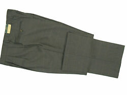New 198 Orvis Cfo Collection Flannel Dress Pants 38  Gray With Some Olive