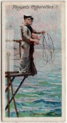 1905 British Sailor Heaving The Lead To Check Water Depth 1905 Trade Ad Card