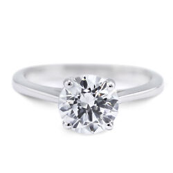 4 Carat Round Cut G - VS2 Solitaire Diamond GIA Engagement Ring custom size
