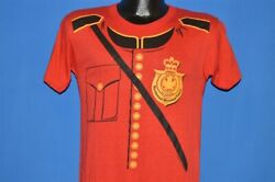 vintage 80s CANADIAN MOUNTED POLICE MOUNTIE UNIFORM ALWAYS GET MAN t-shirt S