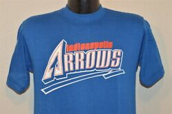 Vintage 80s Indianapolis Arrows Blue Logo 7 Soft Mlb Team Never Was T-shirt M