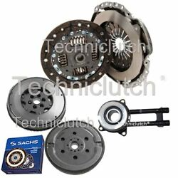Nationwide 2 Part Clutch And Sachs Dmf With Csc For Ford Fiesta V Box 1.4 Tdci