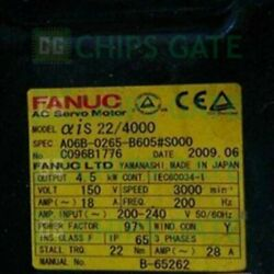 1pcs Used Fanuc A06b-0265-b605s000 Tested In Good Condition Fast Ship