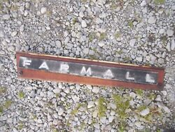 Farmall 706 Tractor Ih Ihc Front Left Hood Skirt White Panel And Emblem Sp Bolts