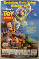 Poster Advertising Toy Story Is Coming To Video On October 29 1996