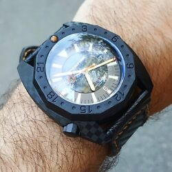 Vdb 2014 Forged Carbon 500m Automatic Watch Hand Made In Germany