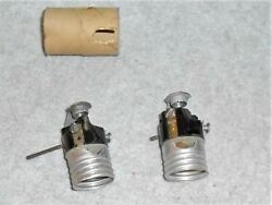 2 New Old Stock Vintage Rotary Light Switches - 3/8 Arm And 1 1/8 Arm
