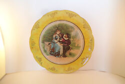 Vintage Masonic Riddle Lodge East Liverpool Oh Vodrey China Courtship Plate