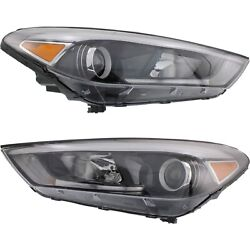 Headlight Set For 2016 2017 2018 Hyundai Tucson Left And Right With Bulb 2pc