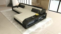 Fabric Luxury Couch Houston L Shape Designer Sofa with LED Lights