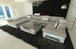 Luxury Sectional Sofa Atlanta U Designer Couch with LED Lights