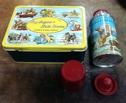 Vintage 1950s / Roy Rogers And Dale Evans Lunchbox W/ Thermos - Very High Grade