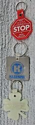 3 Key Chain Fobs Red River Valley Ada Mn Kleespie Petro Stop Sign Mentor Free Sh