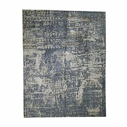 9'2x12' Wool And Silk Abstract Design Hand-knotted Oriental Rug R44714