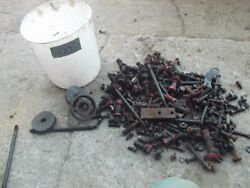 Farmall 400 450 Tractor Ih Box Of Bolts Nuts Ih Parts And Pieces Pto Bearing