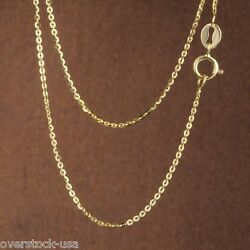 J.lee Fine 17.5inch 18k Yellow Gold Necklace O Link Chain Necklace 1.12g