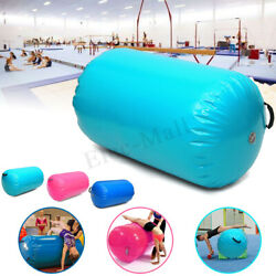 100x85CM Green Inflatable PVC Gymnastics Home GYM Air Mat Barrel Track Roller