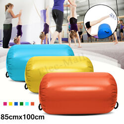 100x85CM Yellow Inflatable PVC Gymnastics Home GYM Air Mat Barrel Track Roller