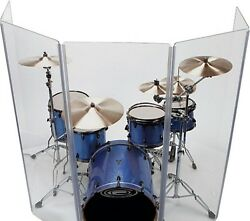 Acrylic Drum Shield Drum Screen Ds3l Five Panels 2ftx4ft With Full Length Hinges