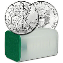 Random Date American Silver Eagle 1 oz $1 1 Roll of 20 BU Coins in Mint Tube $539.92
