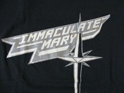IMMACULATE MARY IMMACU MANIAC MIRROR RECORDS VINTAGE 1980s 1987 T-SHIRT-SM RARE