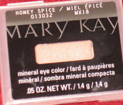 3 Mary Kay EYE Colors SPUN SILK, SWEET CREAM & HONEY SPICE Mineral Eye Shadows