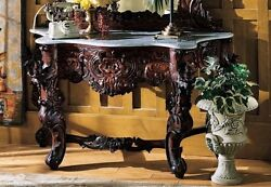 Gr325 - Hapsburg Marble Topped Console Table - Table Only - New