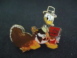 Disney Dlr Cast Exclusive Thanksgiving 2002 Donald Duck And Turkey Pin Le 3000