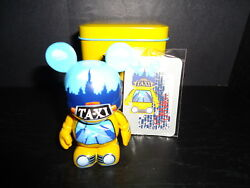 Disney 3 Vinylmation New York City Exclusive Taxi Figure With Tin And Artist Card