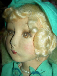 Antique 22 Land039bd Elegant Deanand039s Rag England Jointed Boudoir Doll Extremely Rare