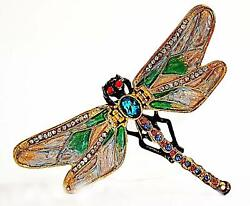 Ciel Collectibles Dragonfly Trinket Box Hand Made Crystals Enameled