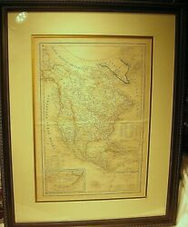 1844 Delamarche Map Of North America And Antilles-nice-gallery Framed And Glazed