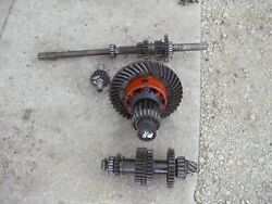 Case Vac Tractor Transmission Matched Set Upper And Lower Gears Shaft Pinion And