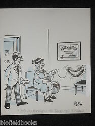 """Clifford C Lewis """"clew"""" Original Pen And Ink Cartoon - Invisible Husband 210"""