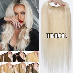 Amazing Blonde Thick One Piece Secret Wire Headband Human Remy Hair Extensions M