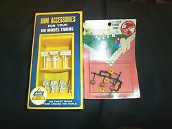 Vintage A.h.m. 5612 23 Assorted Railroad + Traffic Signs - Ho - Mip - Free Ship