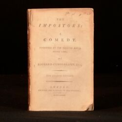 1789- 1797 Collected Plays By Richard Cumberland The West Indian Drama