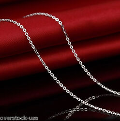 J.lee 18inch 18k White Gold Necklace O Link Chain Woman's Necklace