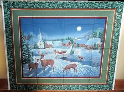 1 Wonderful Winters Eve Christmas Cotton Quiltingwallhanging Fabric Panel