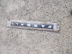 Farmall Ih 504 Tractor Main Right Engine Motor Front Side Cover Panel And Emblem