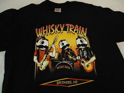 Whisky Train Baltimore Md With Mr Boh Of National Beer .... Med  T Shirt