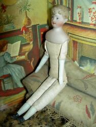 Lovely 6 German, Antique Bisque Shoulderhead, Dollhouse, Gibson Girl, Lady Doll
