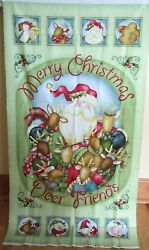 1 Great Jingle All The Way Christmas Cotton Fabric Quilting/wallhanging Panel