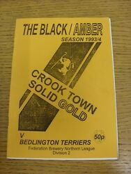 16041994 Crook Town v Bedlington Terriers  . Condition: We aspire to inspect a