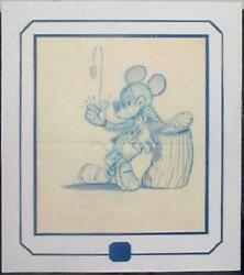 Mickey Mouse Tossing Coin Drawing Matted And Ready To Frame Make Offer