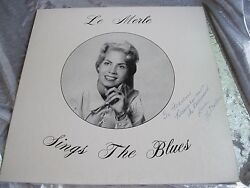 Rare Private Female Vocal Lp Le Merle Sings The Blues Limelight 133 1979