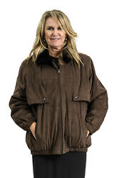 Clearance Amazing 3 In 1 Suede And Mink Fur Jacket/vest - Size 14