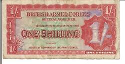 Uk / Great Britain, 1 Shilling, British Armed Forces,pm18a, Nd1948