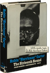 Rubin Hurricane Carter SIXTEENTH ROUND FROM NUMBER 1 CONTENDER 1st ed #143560